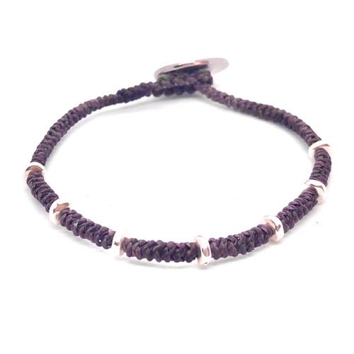 Kaha Bracelet - plum/silver