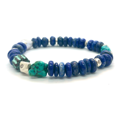 Lapis Turquoise and Pearl Bracelet - Limited Edition