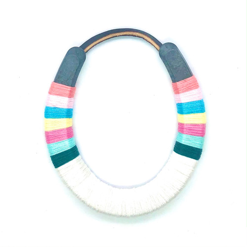 Wrapped Horseshoe Pastel and white - Small