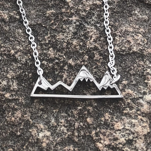 Silver Mountain Range Necklace stainless