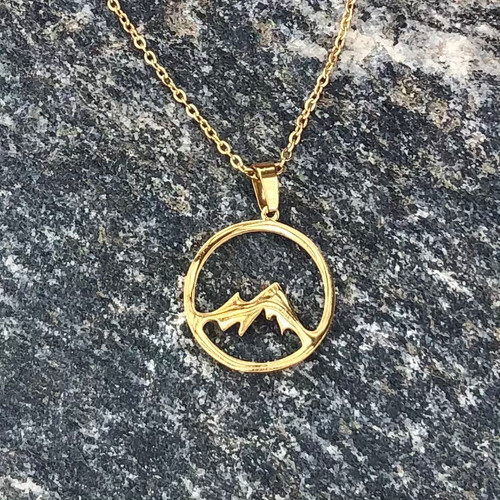 Gold Mountain Necklace stainless