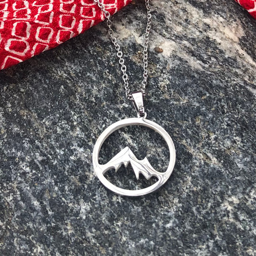 Silver Mountain Necklace stainless