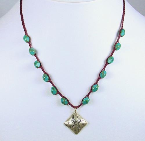 Diamond Wheel Necklace