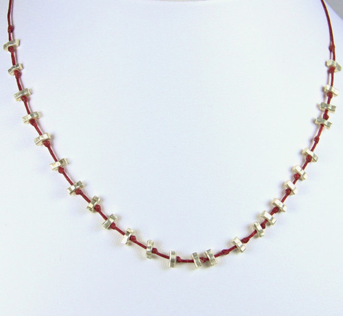 Matchstick Necklace - red