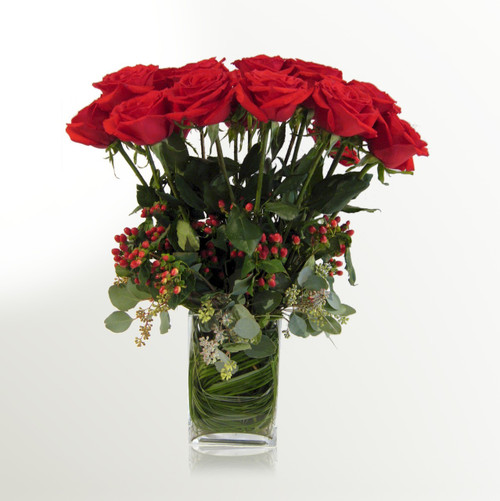 12 Indulgent Long Stem Roses