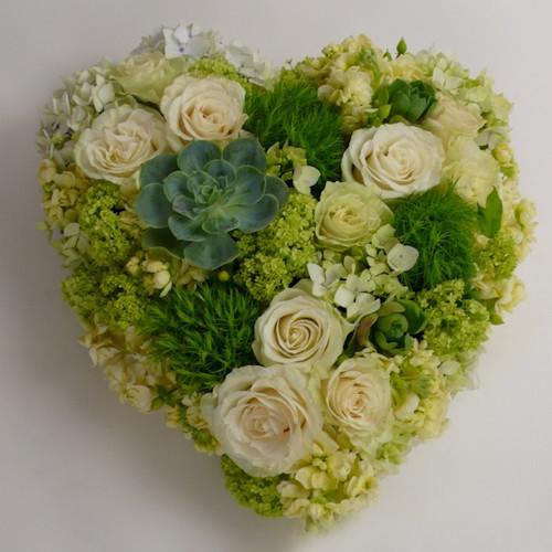 Sympathy Wreath Heart Arrangement