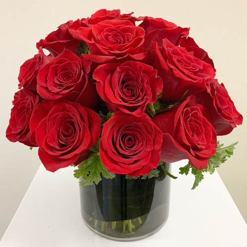 2 Dozen Rose Cylinder