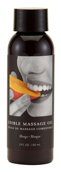 Massage Oil Edible Mango 2oz