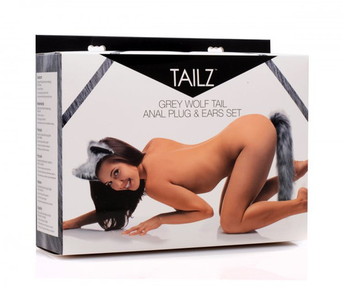 Tailz Grey Wolf Tail & Ears box