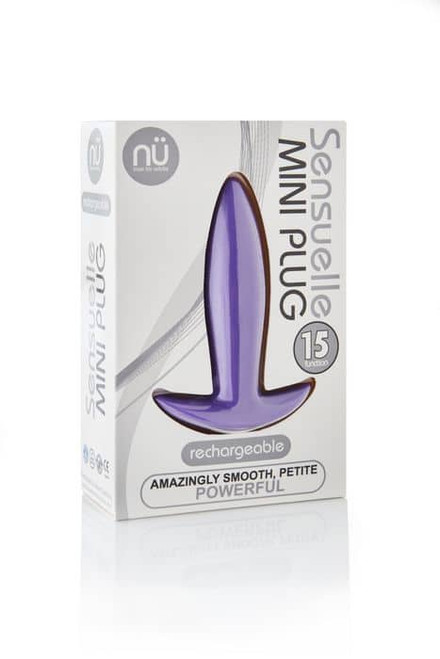 Sensuelle Mini Butt Plug Purple box