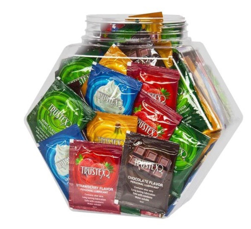 Trustex Assorted Flavors 144 Pc Bowl hexagon jar
