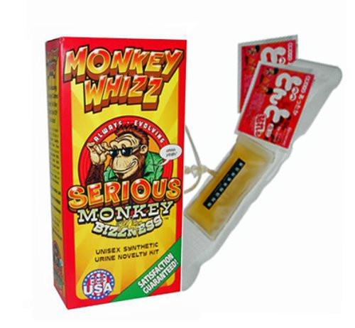 Box of Monkey Whizz Novelty Urine Kit