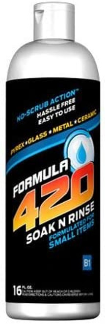 Bottle of 420 Soak N Rinse Cleaning Solution