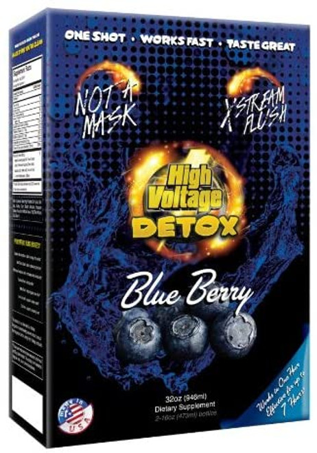Box of High Voltage Detox 5 Day Blueberry
