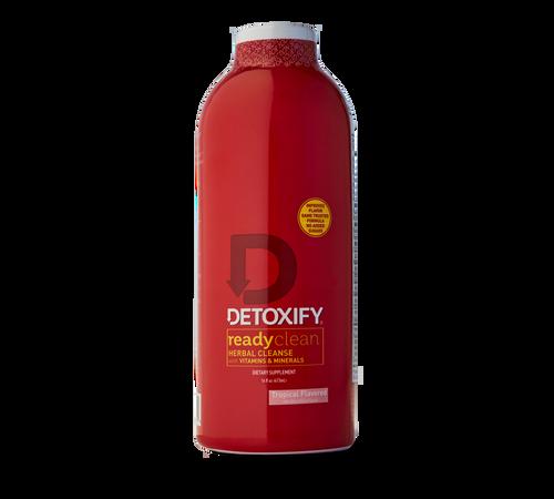 Red 20z bottle of detoxify