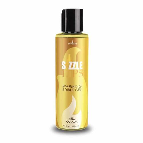 Sizzle Lips Pina Colada Warming Gel 4.2 Oz bottle