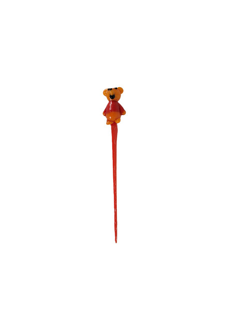 Red glass dabber with bear shaped tip