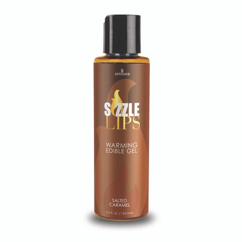 Sizzle Lips Salted Caramel Warming Gel 4.2 Oz bottle