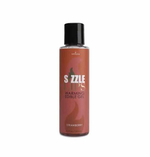 Sizzle Lips Warming Gel Strawberry 4.2 Oz bottle