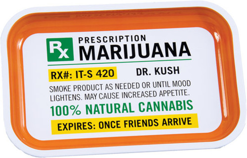 Metal Rolling Trayhelps your customers to follow their Jamaican Pharmacist's Prescription