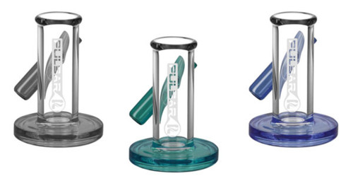 borosilicate glass stand for holding your carb cap & dabber tool to keep them contained when they are all sticky with concentrate goo