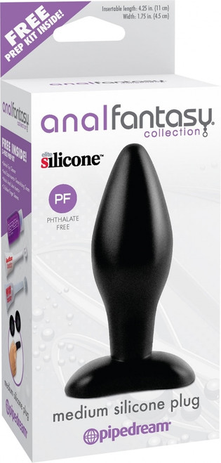 Anal Fantasy Medium Silicone Plug box