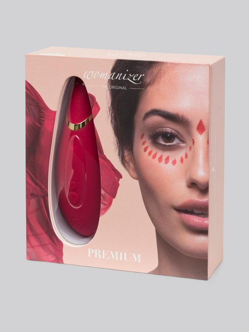 Red and Gold Womanizer Premium in a box