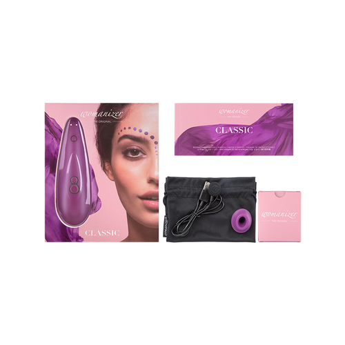 Womanizer Classic with portable bag and box. Purple.