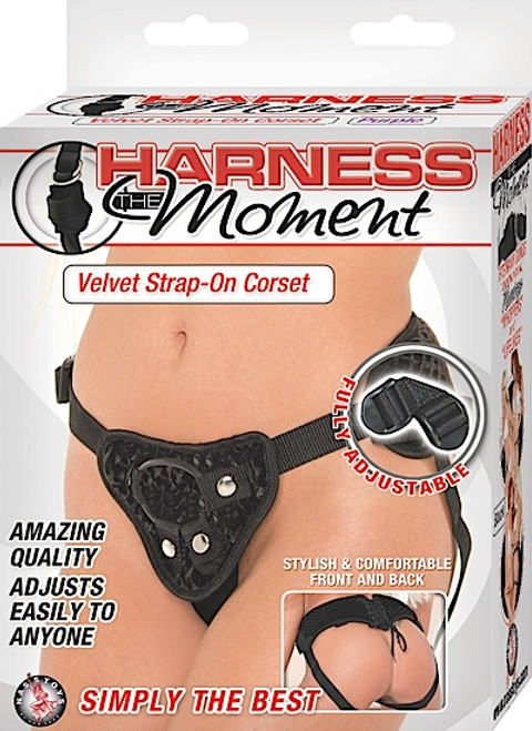 Harness The Moment Black front of box