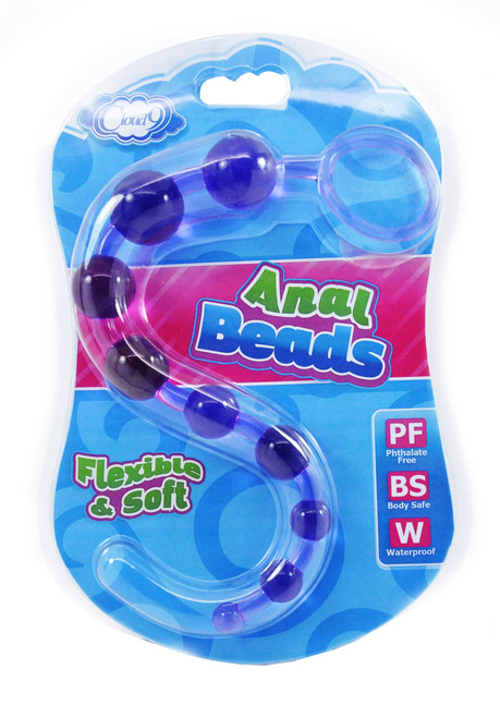 Cloud 9 Classic Anal Beads Purple box