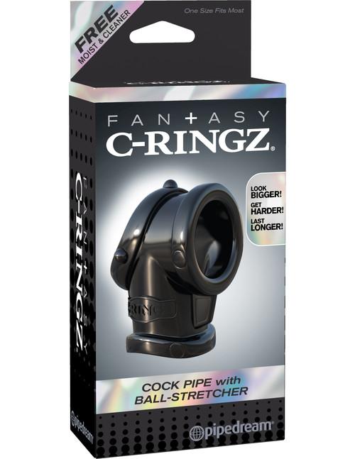 Fantasy C-ringz Cock Pipe W/ball Stretcher front of box