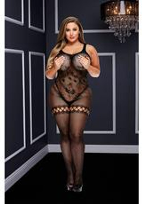 Baci Crotchless Bodystocking-black-queen