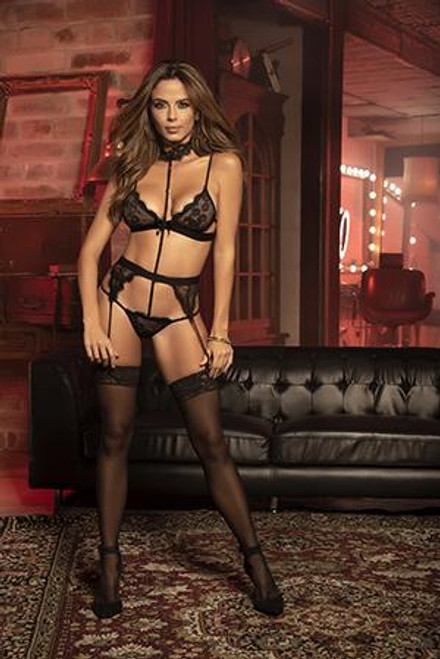Mapale Teddy With Garters S/M Black