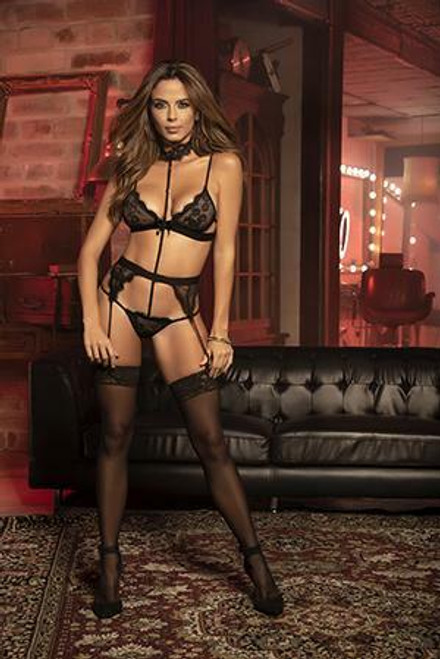 Mapale Teddy With Garters M/L Black