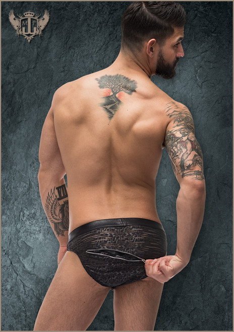 2x Zip Bikini Medium Black