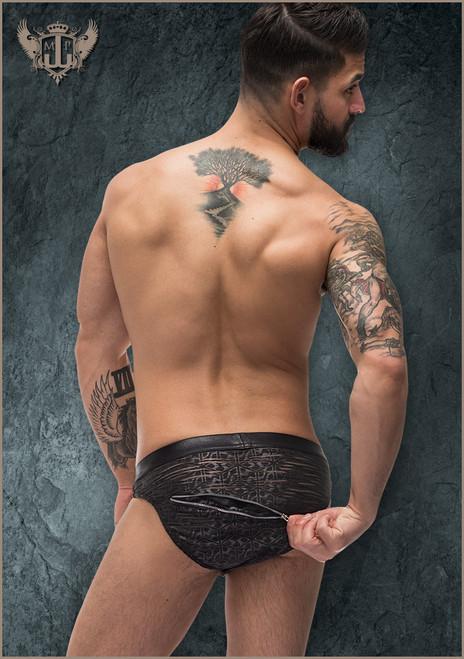 2x Zip Bikini Xlarge Black