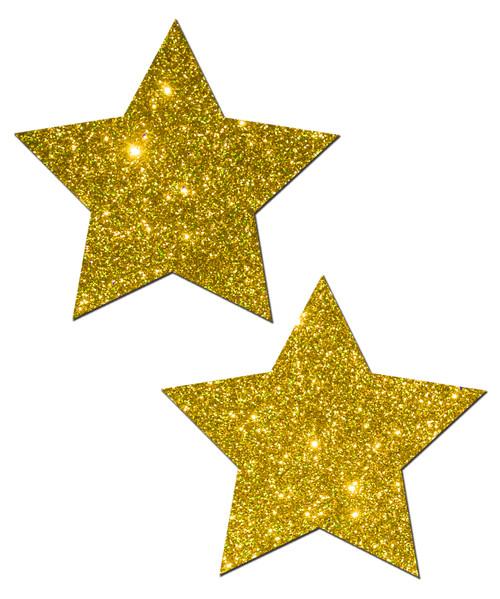 Pastease Rockstar Glitter Gold Glitter Pasties