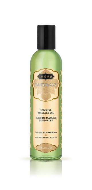Naturals Massage Oil Vanilla Sandalwood 8oz