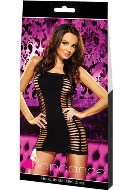 Lap Dance Naughty Girl Mini Dress-black