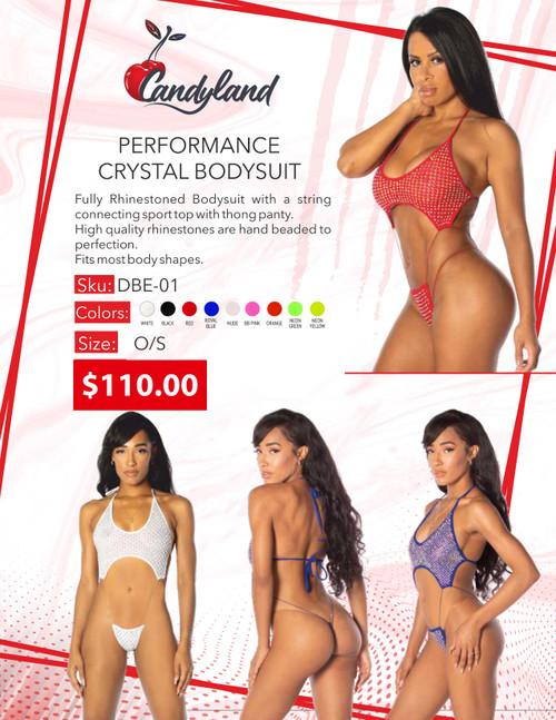 Performance Crystal Bodysuit Neon Orange