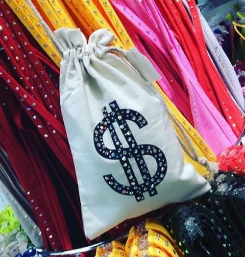 Money Bag Black One Size