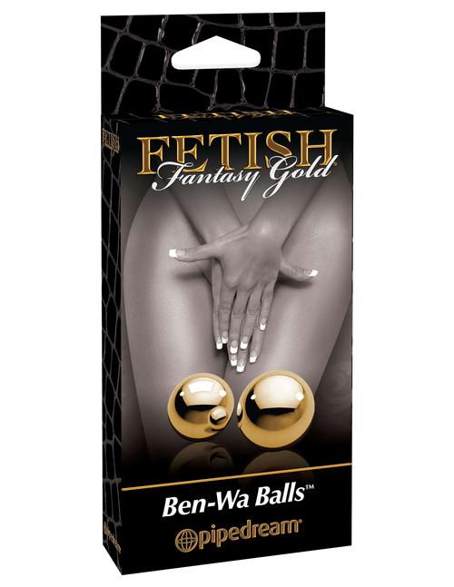 Fetish Fantasy Gold Ben Wa Balls  box