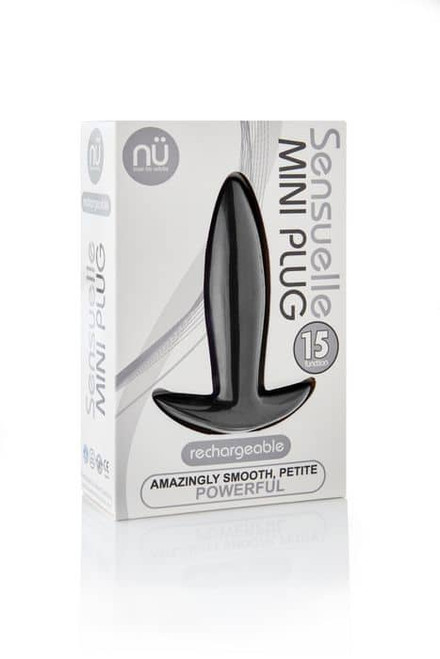 Sensuelle Mini Butt Plug Black box