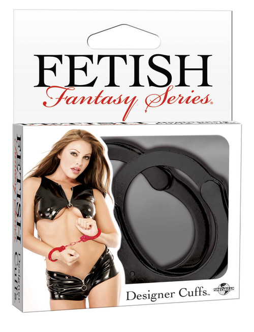 Fetish Fantasy Designer Black Metal Handcuffs box front