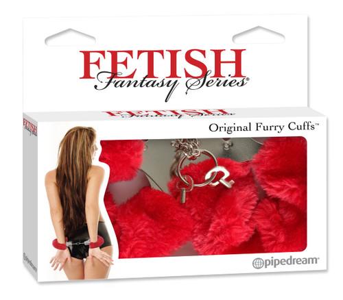 Fetish Fantasy Fur Handcuffs-red box front