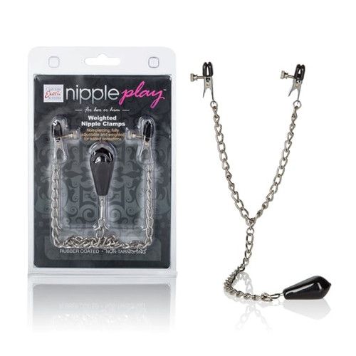 Nipple Play Weighted Nipple Clamps box and contents