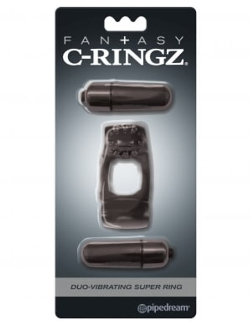 Fantasy C Ringz Duo Vibrating Super Ring Black box front
