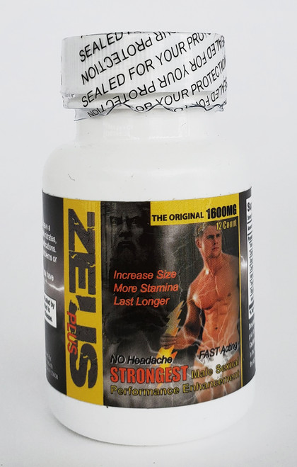 Zeus Male Sexual Enhancer 12 Pill Jar front