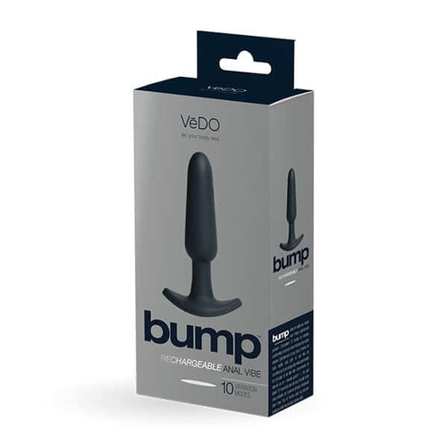 Vedo Bump Rechargeable Anal Vibe Just Black box front