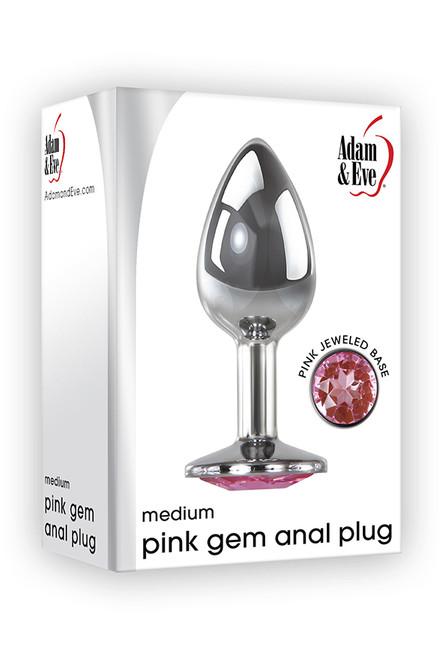 Pink Gem Anal Plug - Medium box